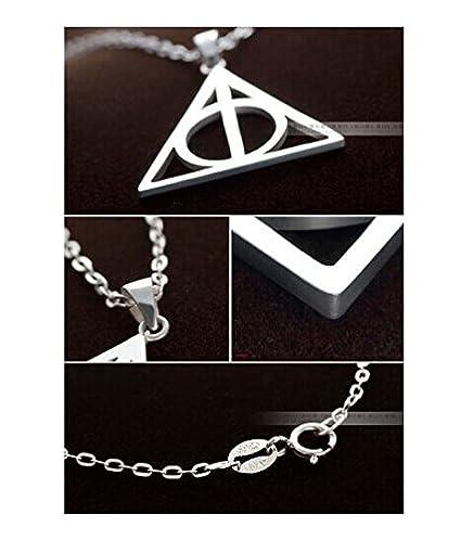 Amazon.com: Plata de ley 925 de Harry Potter Reliquias de la ...