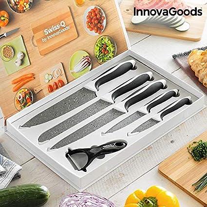 Compra Innovagoods IG812898 Juego De Cuchillos De Piedra Y ...