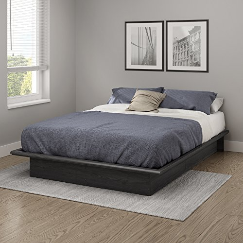 (South Shore 10441 Step One Full Platform Bed (54''), Gray Oak, 54