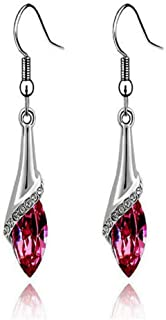 Vovotrade® 1 Pair Fashion Women Lady Crystal Marquise Cut Teardrop Earrings Gift (Red) Vovotrade®