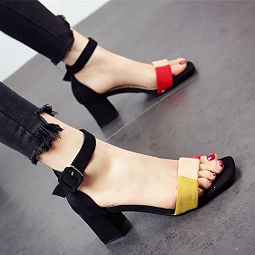 a di sandali ladies toe YMFIE scarpe comoda Estate party nuova moda nozze tacchi lady OYqTUzHg