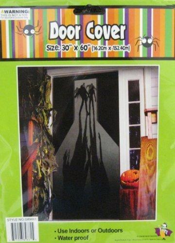 Halloween Door Cover Zombie Figures/Shadows (Halloween Front Door)
