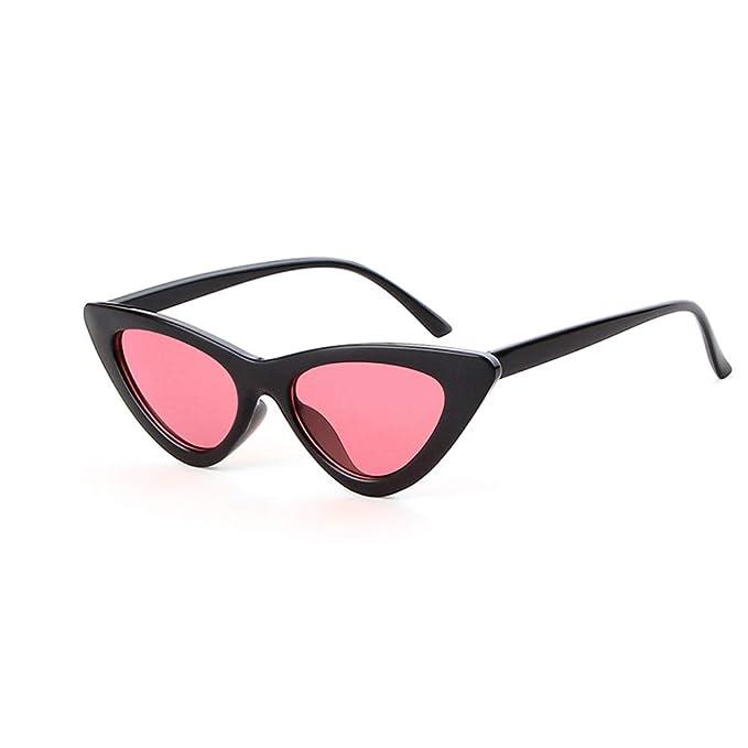 21e7944ba83fc Clout Goggles Cat Eye Sunglasses Vintage Mod Style Retro Kurt Cobain  Sunglasses (Black frame pink lens