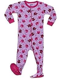 Baby Girls Footed Pajamas Sleeper 100% Cotton Kids & Toddler Pjs (3 Months-