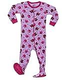 Leveret Kids Elephant Baby Girls Footed Pajamas