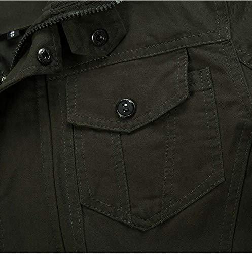 Military Cotton Casual Jacket Green Workwear Men's Famesale nP8qwaXT