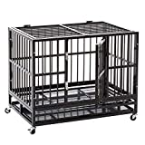 HYD-Parts Steel Large Dog Cage ,Heavy Duty Strong Pet Kennel Crate Playpen