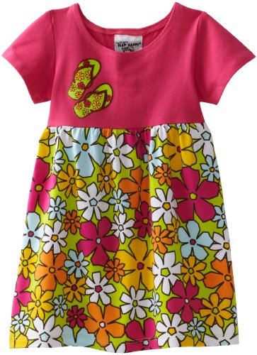 Flap Happy Baby Girls' Contrast Tee Dress With Screen Print