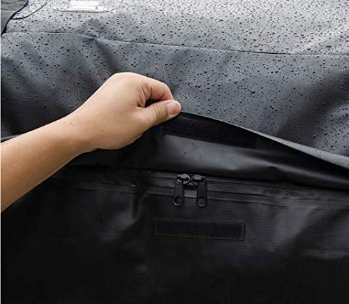CARTOP Cargo Bag Waterproof Cargo Bag Easy to Install Soft Rooftop Luggage Carriers Works with or Without Roof Rack(15 Cubic feet)