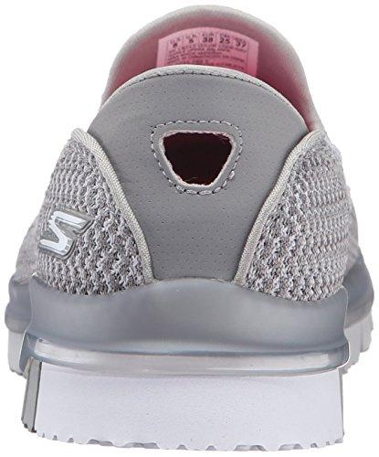 Women's Skechers Flex white Grey Trainers Go SHaHqO