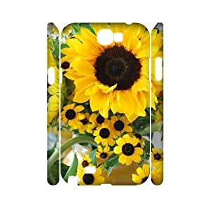 Sunflower CUSTOM 3D Hard Case for Samsung Galaxy Note 2 N7100 LMc-11199 at