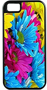 Design Case For Iphone 5C Cover Case For Iphone 5C Cover Case Color Lite Blue pink and Yellow Colorful Flowers DesiIdeal Gift