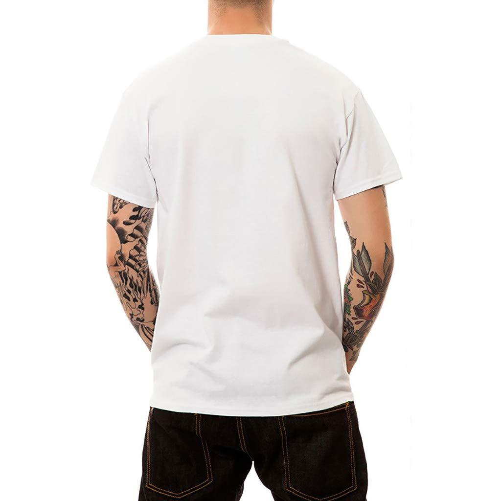 SENDRY Mens New Summer Printed Fashion Personality Printed Casual Short T-Shirt Tops