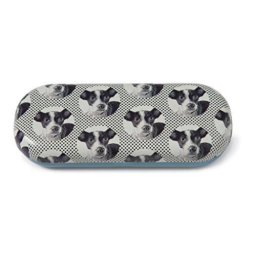 Catseye Hard Eyeglass Case, Etched Dog