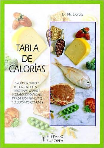 Tabla de calorías (Tablas de alimentos): Amazon.es: Dorosz ...