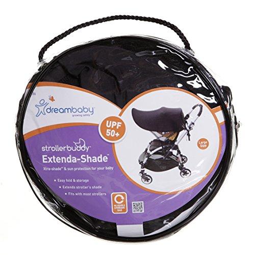 Dreambaby Strollerbuddy Extenda-Shade, Black, Large by Dreambaby (Image #8)