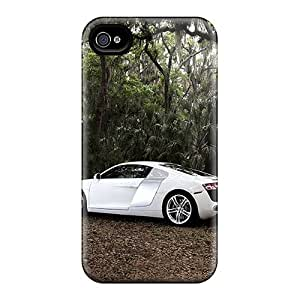 Excellent Hard Phone Case For Iphone 4/4s (pIK11315OOMA) Support Personal Customs Attractive Audi R8 Series
