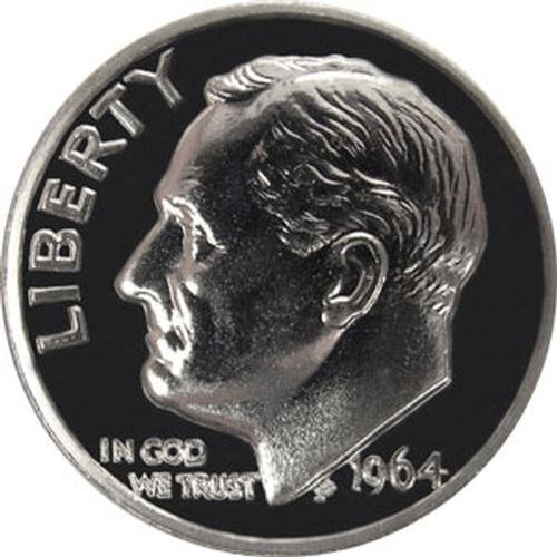 1964 P SILVER Gem Proof Roosevelt Dime US Coin