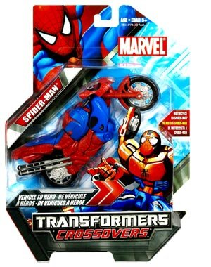 Hasbro Marvel Transformers Crossovers Motor-Cycle to Spider-man, Red Costume