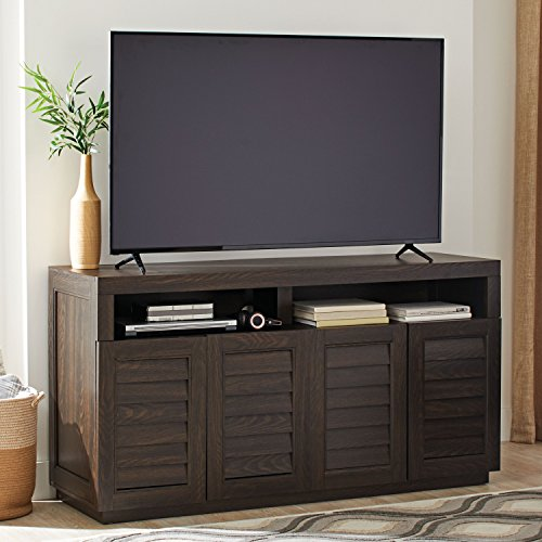 BHG Ellis Wooden Shutter Style TV Storage Accent Cabinet Sofa Table Console for TVs up to 75