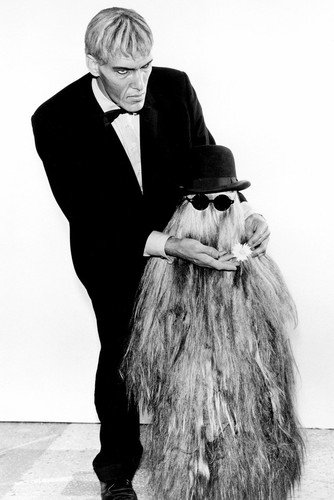 The Addams Family (1964) Ted Cassidyas Lurch with Cousin It 24x36 Poster from Silverscreen