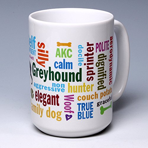 15 oz. Personalize this Ceramic Greyhound Coffee/Tea Mug ~ perfect for a dog or pet lover ~ can be ()