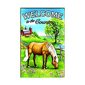 Welcome To The Country Garden FlagDouble Sided decorative flags Sides 12.5 x 18 Inch banner home flags Print flags