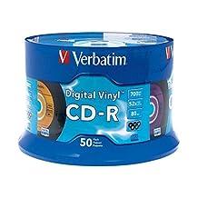 Verbatim 700MB 52X Digital Vinyl CD-R - 50-Disc Spindle 94587