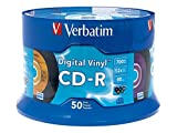 Verbatim CD-R 80min 52X with Digital Vinyl Surface - 50pk Spindle