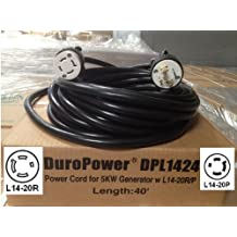 Generator Power Cord - L14-20 Extension Cord DPL1424 - 40 Foot, 20 Amps, 125/250V