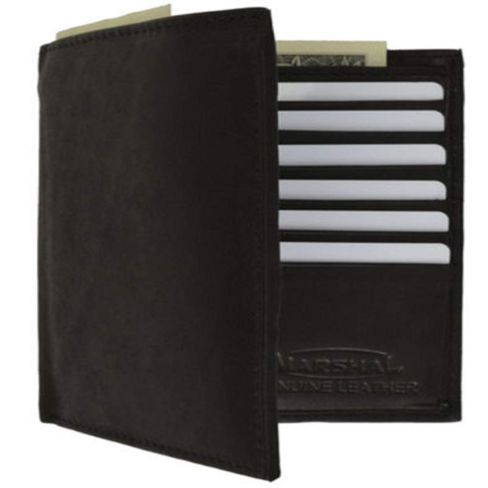 Good Black for Men Leather Center Flap Card #LWTY