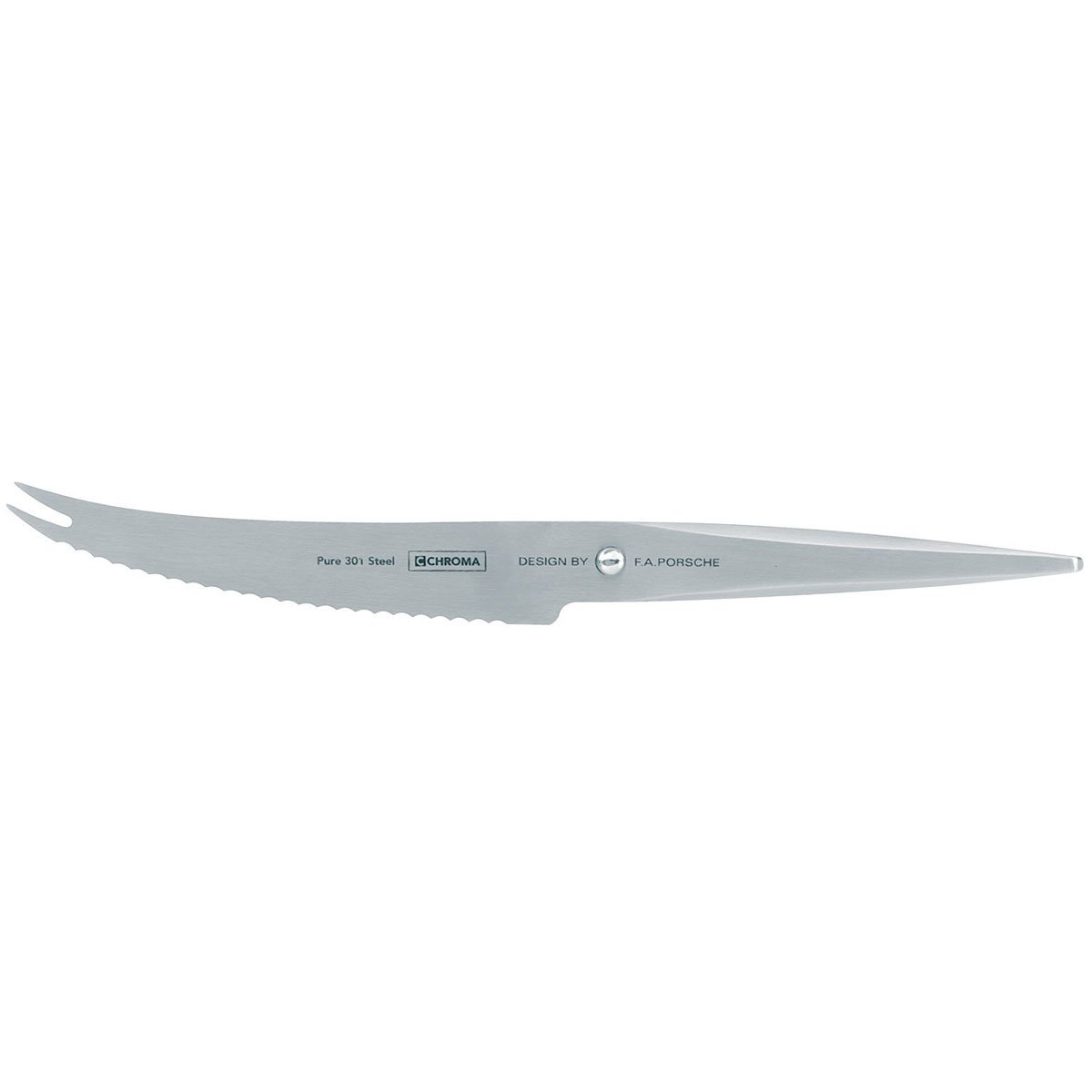 Chroma 5019311910965 Type 301 Designed by F.A. Porsche 5 3/4 Inch Tomato Knife, one size, silver by Chroma