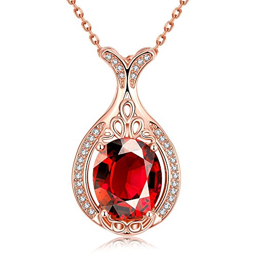 SDLM Clear Oval Austrian Crystal Lovely Mermaid Charm Pendant Necklace Gift(red) (Lois Hill Oval Bracelet)