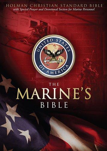 HCSB Marine's Bible, Burgundy Simulated Leather