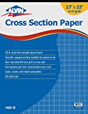 Alvin 1422-12 Cross Section Paper 4 x 4 Grid 50-Sheet Pad (17'' x 22'')