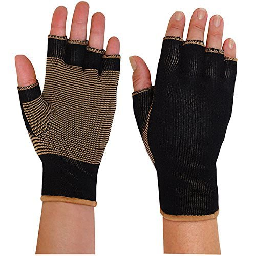 Remedy Health Copper Infused Light Compression Fingerless Arthritis Gloves