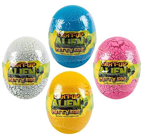 DollarItemDirect 3 inches Light-Up Alien Putty Egg, Case of 3