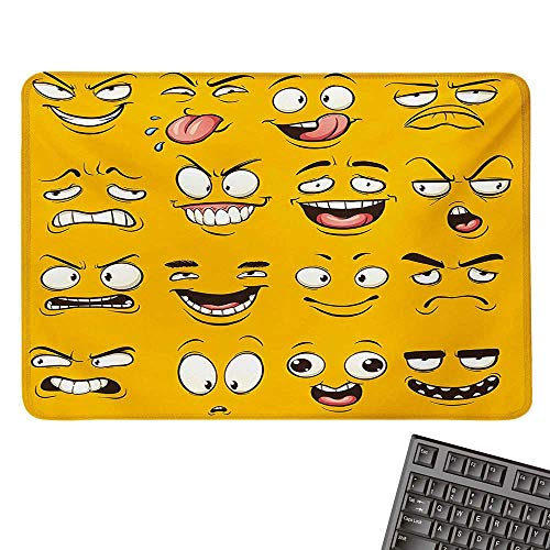 Tweety Face (EmojiE-Sports Gaming Mouse PadSmiley Surprised Sad Hot Happy Sarcastic Angry Mood Faces Expression Plain Backdrop PrintNonslip Rubber Base 15.7
