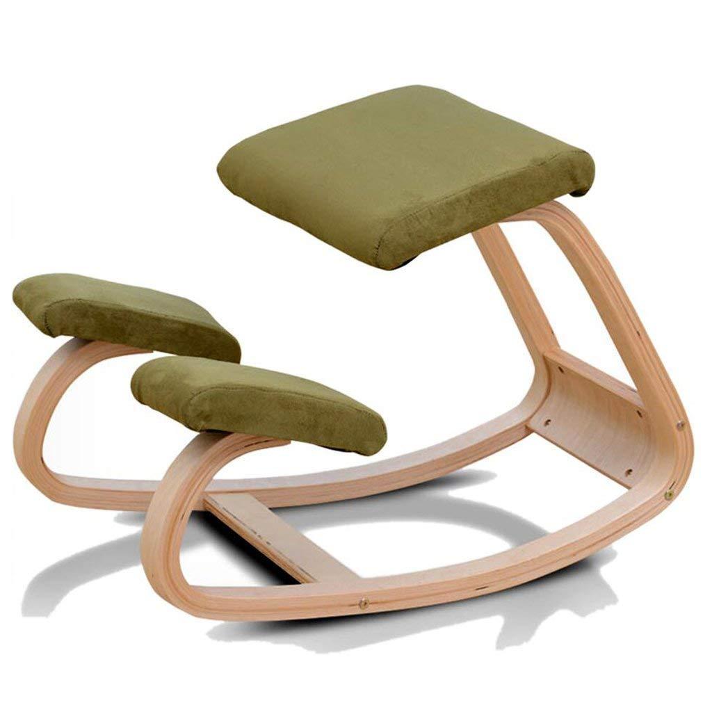Yoga Stühle Student Zervikale Orthopädische Stühle Kinder Fitness Orthopädische Stühle, Erwachsene Yoga-Übungen Anti-Campingstühle Position Korrekturstühle Form (Farbe: Grün)
