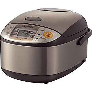 Zojirushi NS-TSC10 Micom Rice Cooker and Warmer, 5.5 cups, Uncooked, Stainless Brown (B0074CDG6C) | Amazon Products