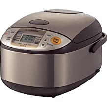 Zojirushi NS-TSC10 Micom Rice Cooker and Warmer, 5.5 cups, Uncooked, Stainless Brown