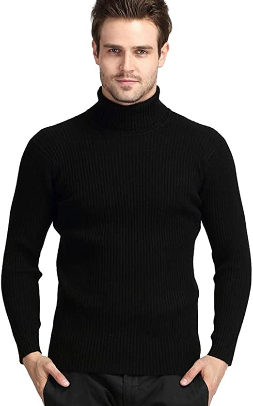 Men/'s Thick Warm High Collar Pullover Long Sleeve Sweater Slim Jumper Tops M-2XL