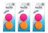 EASY GRIP Arthritic large Ridges Artritis Contact Lens Case Easy to Open 3 Pack Orange Pink