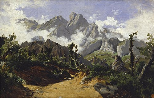 Rent A Fog Machine (Polyster Canvas ,the High Definition Art Decorative Prints On Canvas Of Oil Painting 'Haes Carlos De Fog (Picos De Europa) Ca. 1875 ', 30 X 47 Inch / 76 X 120 Cm Is Best For Bar Artwork And Home Decoration And Gifts)