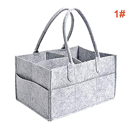 MAyouth Foldable Felt Storage Bag Portable Lightly Multifunction Changeable Compartments for Mom Newborn Kids Nappies Baby Diaper Caddy Organizer