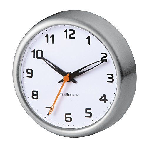 mDesign Suction Clock Bathroom Stainless