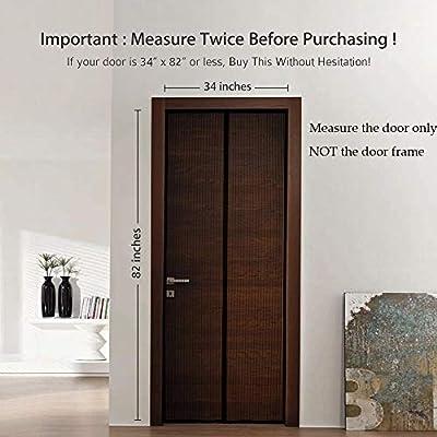 Puerta mosquitera magnética para puertas de hasta 34 pulgadas a 82 pulgadas máx.: Amazon.es: Bricolaje y herramientas