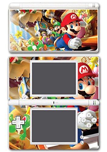 Super Mario Party Island Tour Wario Luigi Yoshi Bowser 10 Peach Video Game Vinyl Decal Skin Sticker Cover for Nintendo DS Lite System