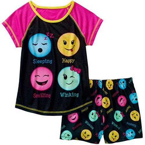 Cute Emoji Girls 2 Piece Pajama Set