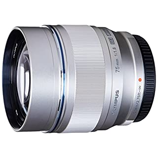 Olympus M.Zuiko Digital ED 75mm F1.8 Lens, for Micro Four Thirds Cameras (Silver)